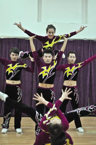 我院获得北京科技大学第六届健美操大赛一等奖